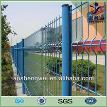 Security welded wire mesh garden fencing