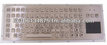 Stainless steel Keyboard with Touchpad and Function keys,IP65 Waterproof Keyboard