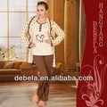 De invierno de punto suave y esponjosa/franela pijama señoras 3 pcs set