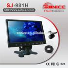 12v/24v Super slim 9'' rearview car lcd monitor mini tv