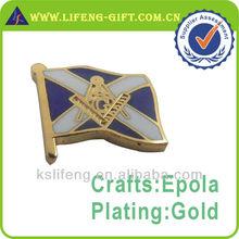 In Stock Custom Flag Masonic Lapel Pins