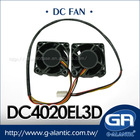 DC4020EL3D 40x40mm Chassis Twin Fan / Bearing EVER LUBRICATION computer accessories fan