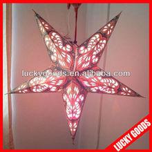 hanging printed indian paper star lanterns