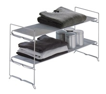 home foldable and stacable metal wire mesh cabinet storage shelf