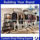 OEM ODM ladies fashion garment retail interior design clothes shop decoration