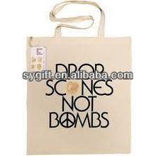 OEM logo cotton canvas tote shopping bag
