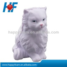 cat shaped stress reliever ,kitty shaped foam ball