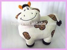 Cute soft plush stuffed cow toy