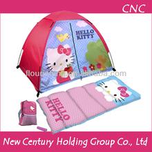 Hello Kitty 4 Piece Fun Camp Kit + Dome + Sleeping Bag + Flashlight