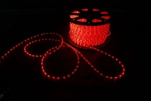 China manufacture high quality decorative christmas 12V 24V led rope lights red color