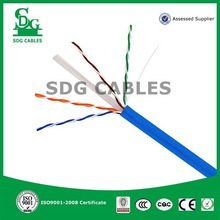 hot selling high quality PE jacket indoor 24AWG cat6 LAN cable