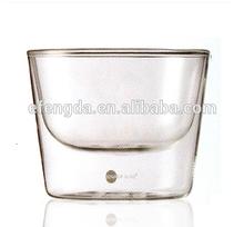 Double wall glass bowl set