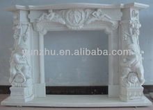 Cheap Delicate white westerners baby statue marble fireplace mantel