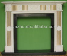 Custom made hand carving electric fireplace mantel
