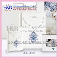 Global hot sale h&b 8*12,12*18 crystal wedding photo album cover