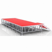 Aluminum plywood stage available in various sizes