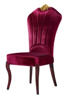 2014 New Purple Velvet Shell Shape Design Banquet Crown Chair YA-1015
