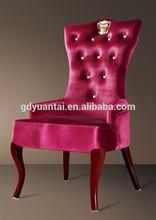 2014 Luxury Crystal Button Design Hotel Lobby Crown Chair YA-1018