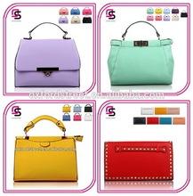 2015 New lastest designer cheap pu handbag classic fashion design lady pu handbag made in china