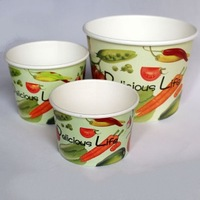 Custom printing eco-friendly ice cream paper tubs from Wuhan China