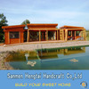 Customized Design Ready made wooden villa prefab log home timber frame cabins wooden house ready made leisure house