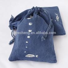 Fashion promotion cotton drawstring shopping bag (YC1804)
