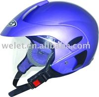 Half face helmet motorcycle open face helmet purple motorcycle helmet
