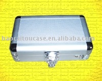 Silver ABS aluminum tool case with lock very firm durable