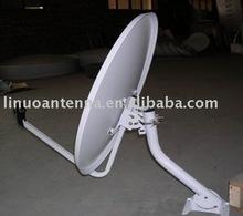 Ku-Band 60cm satellite dish antenna/pole mount tv dish antenna