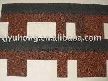 Red Iregular Shape Asphalt Roof Tiles