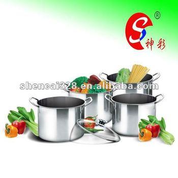 Stainless Steel Stock Pot Cookware Set Casserole