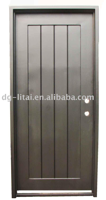 Puerta de hierro forjado de dise o agradable para la casa for Puertas de metal para interiores