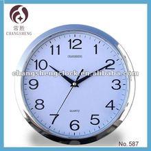 """11"""" Round plastic quartz clock"""