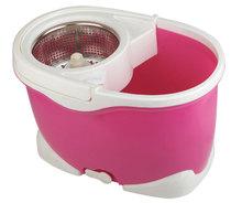 2014 new design pink big bucket 360 spin Mop
