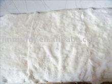 white rabbit skin fur plate