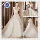 Free veil 2014 Hot High Quality Ivory A- line Cap Sleeve Wedding Dress