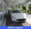 span 5m family carport canopy with flame retardant fabric