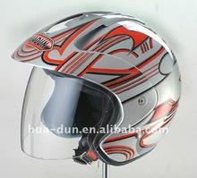 Huadun ABS decals open face motorcycle helmet,HD-50K