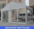 barraca casa 6m x12m em moldura de alumínio com parede transparente