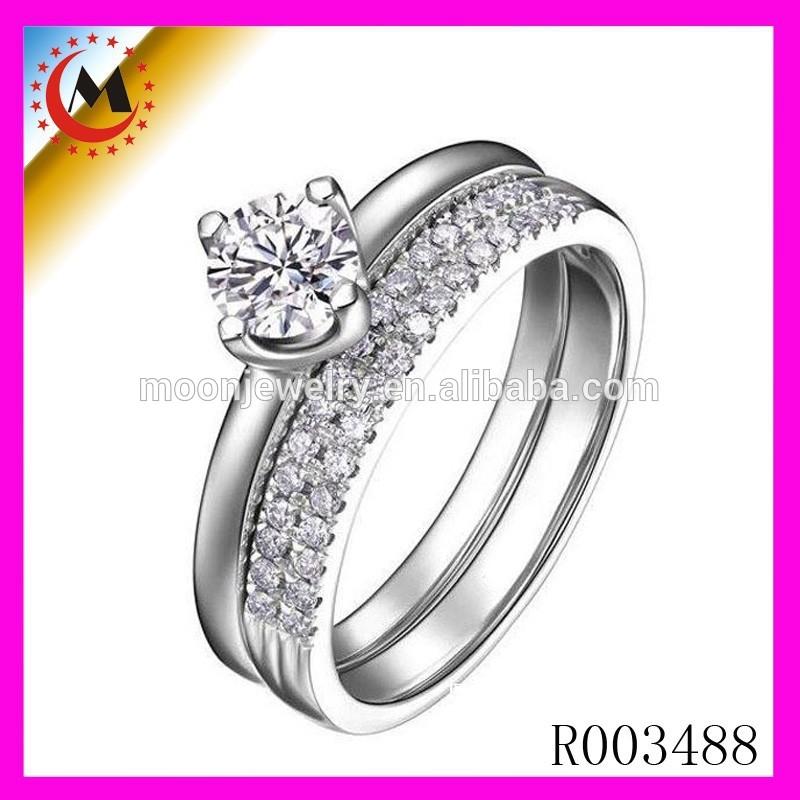 La ciudad de Yiwu de la luna joyería de la venta directa anillo de compromiso