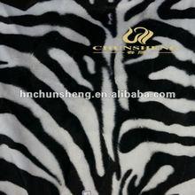 100% polyester printed with zebra-stripe short hair velvet/velboa plush fabric material for garment,home textile,sofa cover