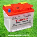 yuasan 12v 60ah الجافة الحمضية شحن البطارية السيارات 56030