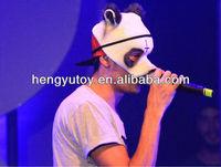 New Designed Panda Mask Cap Style Fancy Dress Rubber Latex CRO Panda Mask for Panda Movie Singing