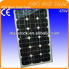 High efficiency low price 45W 18V Monocrystalline Solar Panel Module with CE, TUV, RoHS, UL Certificates