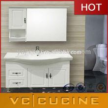 New design modern wood veneer vanity closet