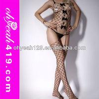 Fancy sexy full body lingerie stockings