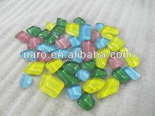 irregular shape crystal glass tiles for DIY art and craft