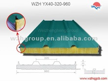 Fireproof rock wool sandwich panel for wall and roof