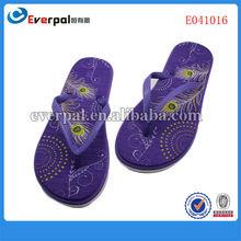Cheapest cheap lady footwear sexy elegant purple folding flip flops