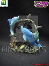 Polyresin dolphin figurine aquarium custom unique decoration